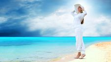 Free Women On The Sunny Tropical Beach Stock Image - 19996311