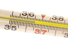 Free Medical Mercury Thermometer Royalty Free Stock Images - 19997259