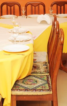 Free Table Setting Royalty Free Stock Photography - 19997747