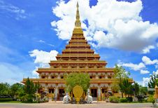 Golden Pagoda At The Temple Stock Image