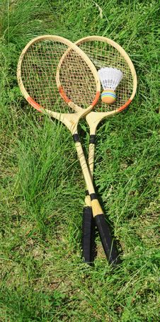 Free Badminton Rackets Stock Photo - 19998430