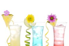 Cocktails Variation With Alcohol Vodka Stock Images