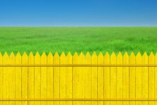 Free Yellow Fence With Grass Royalty Free Stock Photos - 19998858