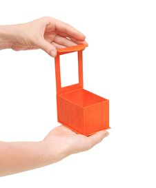 Free Empty Box In A Hand Stock Photography - 19999162