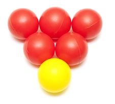 Red And Yellow Plastic Balls Stock Images
