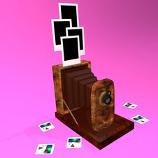 Free The Ancient Camera And Photographs Royalty Free Stock Photography - 19999517