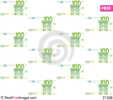 Free 100 Euros Royalty Free Stock Photos - 21208