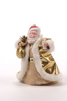 Free Golden Santa Tree Ornament Royalty Free Stock Photography - 23107