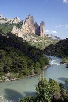 Mallos De Riglos Stock Photo