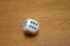 Spinning Dice Royalty Free Stock Photo