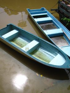 Free Blue Boats Royalty Free Stock Image - 29366