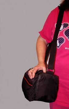 Free Camera Toting Lady Royalty Free Stock Photos - 29478