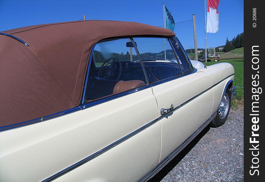 Vintage cabrio automobile