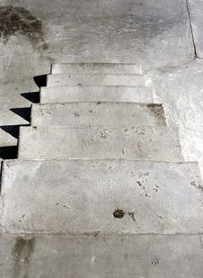 Down Stairs Royalty Free Stock Photography