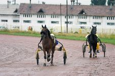 Free Two Racing Horse Carriages Royalty Free Stock Photo - 201625