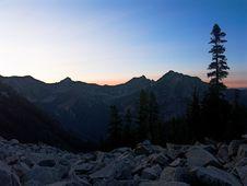 Sunrise On Alaska Mountain Stock Photos