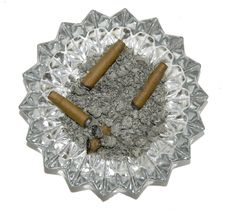 Cigar In An Ash Tray Stock Image