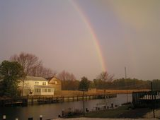 Free Rainbow At Stouts Creek Royalty Free Stock Images - 203899