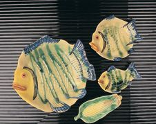 Free Fish Plates Royalty Free Stock Photo - 204125