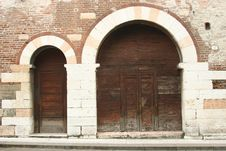 Free Old Doors In Venice Royalty Free Stock Photos - 204568
