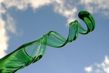 Free Curly Green Glass Stock Image - 204631