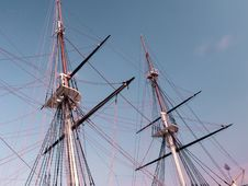 Free Historic Sailing Ship Masts Stock Photography - 205022