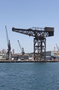Free Dockyard Crane Royalty Free Stock Image - 205236