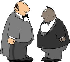 Free Two Guys In Tuxedos Royalty Free Stock Photo - 206255