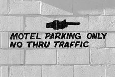 Motel Parking Only