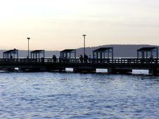 Free Public Fishing Pier Royalty Free Stock Image - 207256