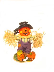 Free Pumpkin Scarecrow Royalty Free Stock Photography - 207527