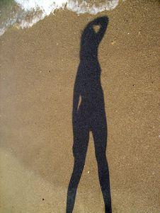 Girl Shadow Royalty Free Stock Photos