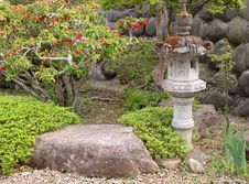 Free Garden With Stone Lantern Stock Photo - 208350