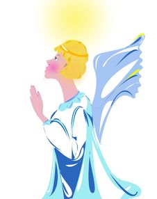 Free Illustration Praying Angel Royalty Free Stock Photography - 208817