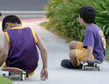 Free Taking A Break From Skateboarding Stock Photography - 208972