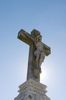 Free Statue Of Jesus On The Cross Royalty Free Stock Image - 209466