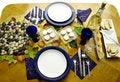 Free Autumn Table Set For Two Royalty Free Stock Photos - 2002838