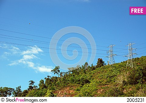 Free Electricity Transmitter Stock Image - 2005231
