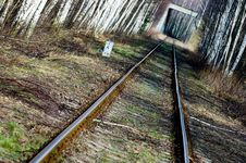 Free Vanishing Railway Track Stock Photography - 2000172