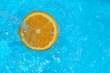 Free Splash Orange Royalty Free Stock Photo - 2000315