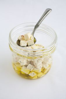 Free Feta In Olive Oil Royalty Free Stock Photos - 2001128