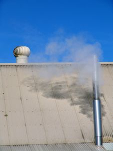 Smoke From Chimney Royalty Free Stock Image