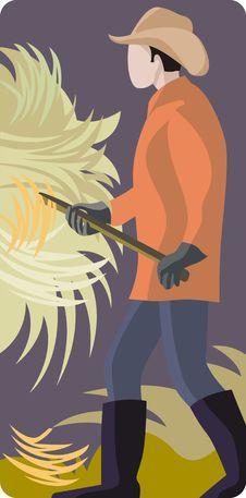 Free Farmer Illustration Royalty Free Stock Photos - 2003118