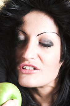 Free Woman With Green Apple Royalty Free Stock Photo - 2003495