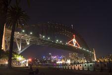 Free Harbour Bridge In The Night Stock Photo - 2003580