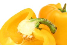 Free Yellow Bell Pepper Cut Upclose Stock Photo - 2003820