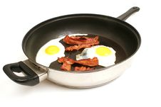 Free Fried Eggs & Bacon In Skillet Royalty Free Stock Images - 2003979