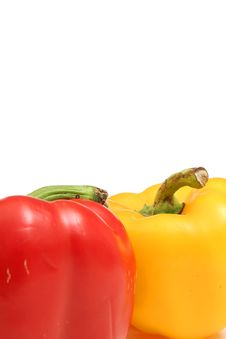 Free Colorful Yellow & Red Bell Pepper Vertical Stock Photos - 2004043