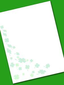 Irish Note Paper Stock Photography