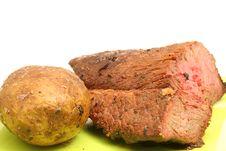 Free Potato & Steak Stock Image - 2004441